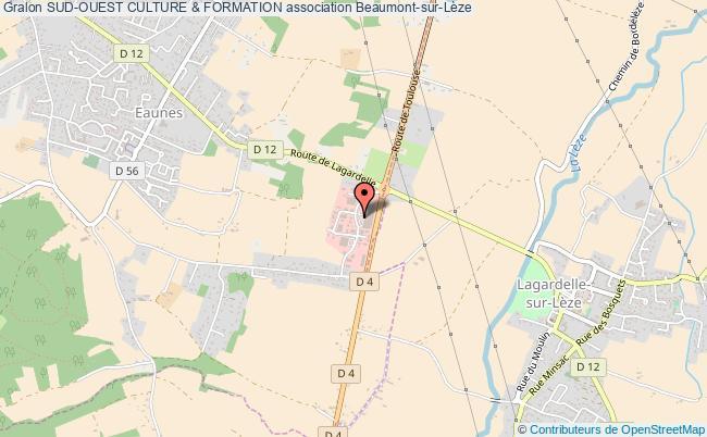 plan association Sud-ouest Culture & Formation Beaumont-sur-Lèze