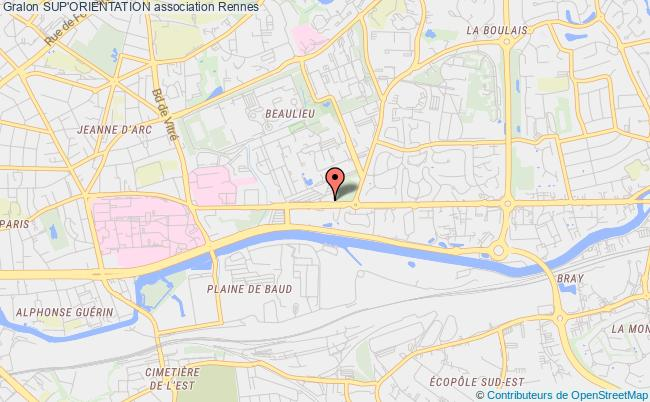 plan association Sup'orientation Rennes