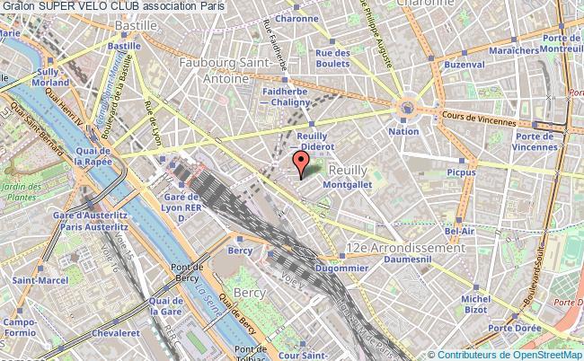 plan association Super Velo Club Paris