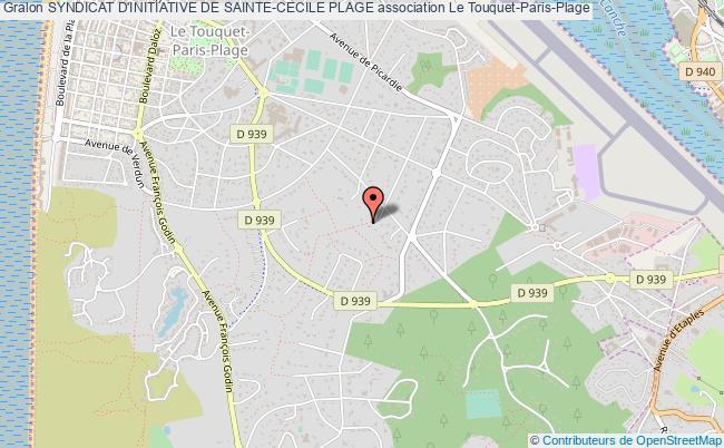 plan association Syndicat D'initiative De Sainte-cecile Plage Le    Touquet-Paris-Plage