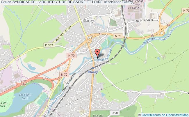 plan association Syndicat De L'architecture De Saone Et Loire