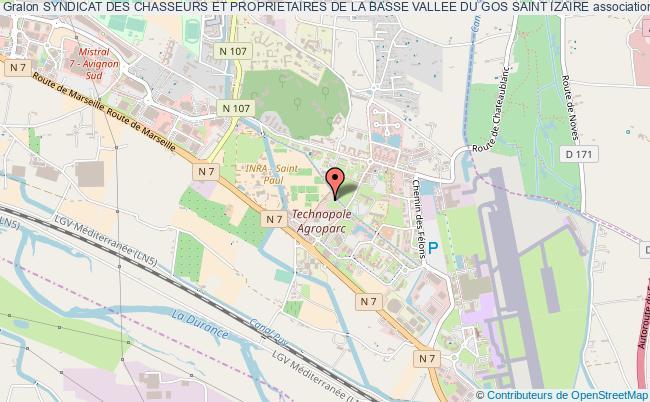 plan association Syndicat Des Chasseurs Et Proprietaires De La Basse Vallee Du Gos Saint Izaire Saint-Izaire