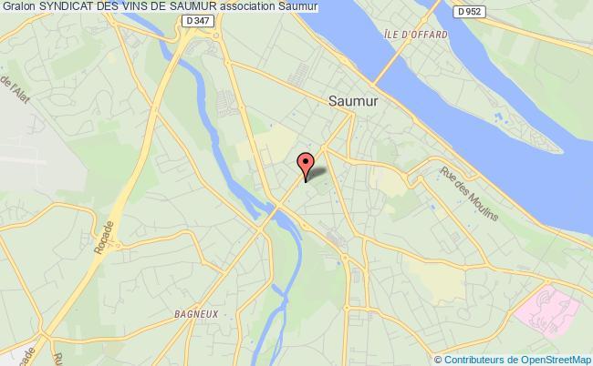 plan association Syndicat Des Vins De Saumur