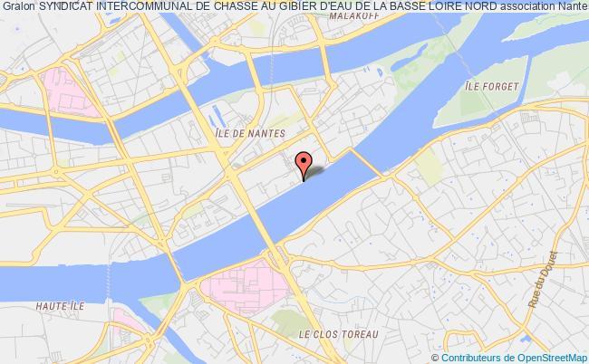 plan association Syndicat Intercommunal De Chasse Au Gibier D'eau De La Basse Loire Nord