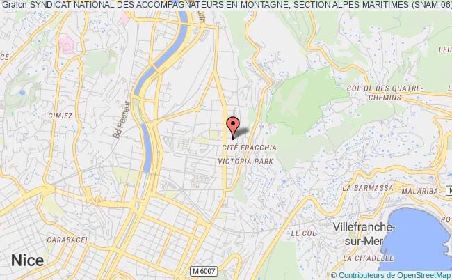 plan association Syndicat National Des Accompagnateurs En Montagne, Section Alpes Maritimes (snam 06)