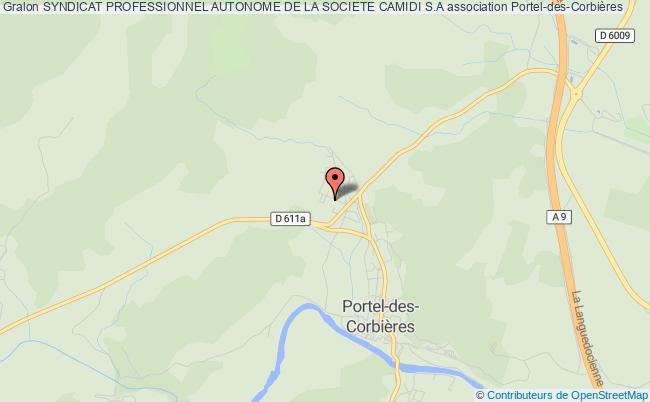 plan association Syndicat Professionnel Autonome De La Societe Camidi S.a Portel-des-Corbières