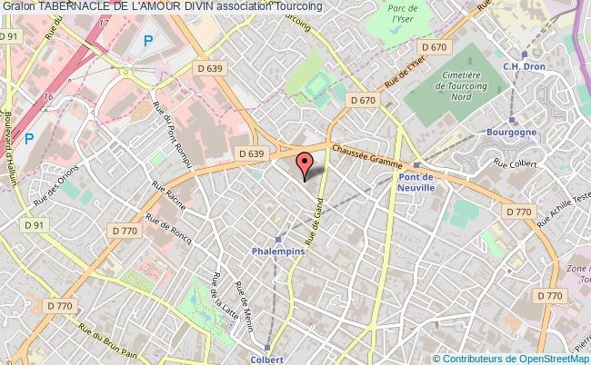 plan association Tabernacle De L'amour Divin