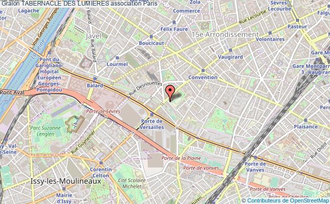 plan association Tabernacle Des Lumieres Paris