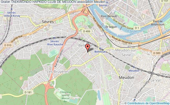 plan association Taekwondo Hapkido Club De Meudon