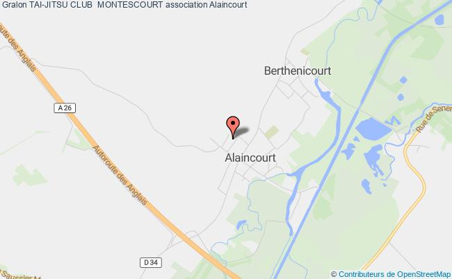 plan association Tai-jitsu Club  Montescourt