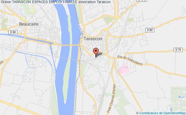 plan association Tarascon Espaces Emploi Famille