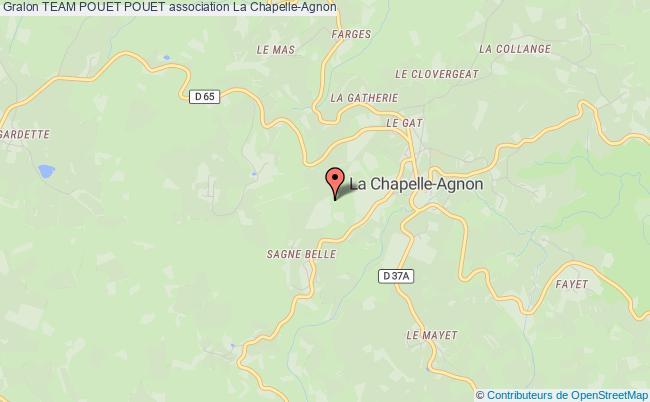 plan association Team Pouet Pouet LA CHAPELLE-AGNON