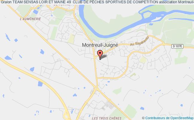 plan association Team Sensas Loir Et Maine 49  Club De PÊches Sportives De CompÉtition Briollay