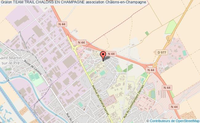 plan association Team Trail Chalons En Champagne