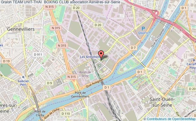 plan association Team Unit-thai  Boxing Club Asnières-sur-Seine