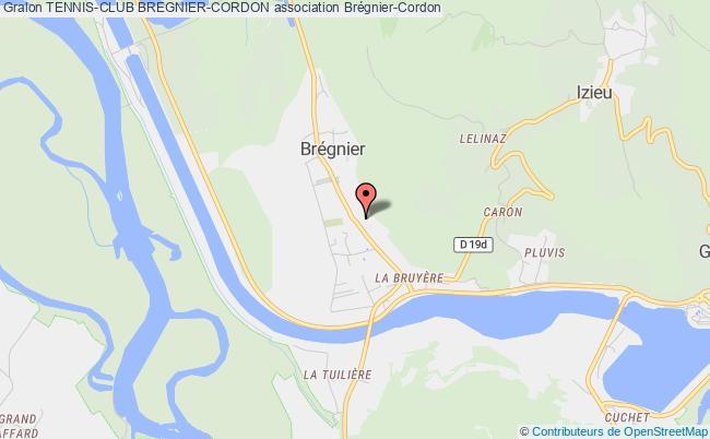 plan association Tennis-club Bregnier-cordon Brégnier-Cordon