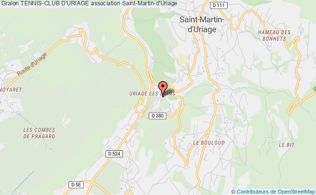 plan association Tennis-club D'uriage Saint-Martin-d'Uriage