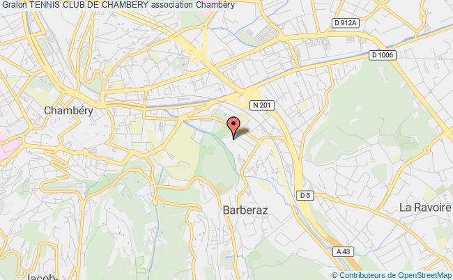 plan association Tennis Club De Chambery