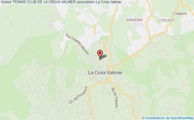 plan association Tennis Club De La Croix Valmer