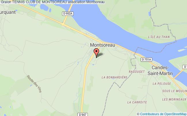 plan association Tennis Club De Montsoreau Montsoreau