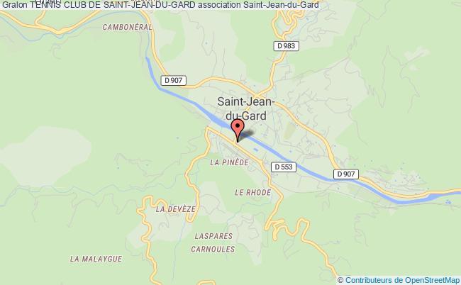 plan association Tennis Club De Saint-jean-du-gard