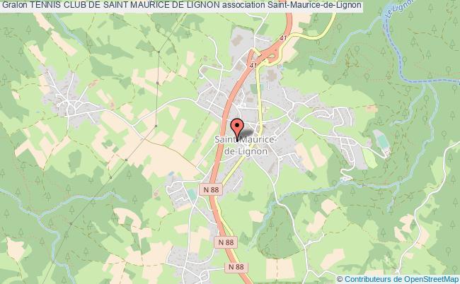 plan association Tennis Club De Saint Maurice De Lignon Saint-Maurice-de-Lignon