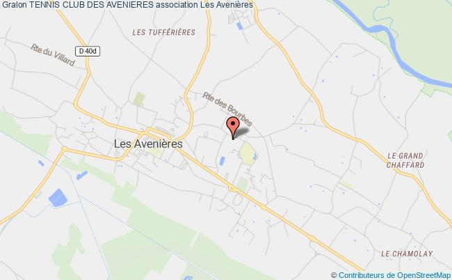 plan association Tennis Club Des Avenieres