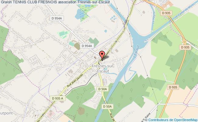 plan association Tennis Club Fresnois Fresnes-sur-Escaut