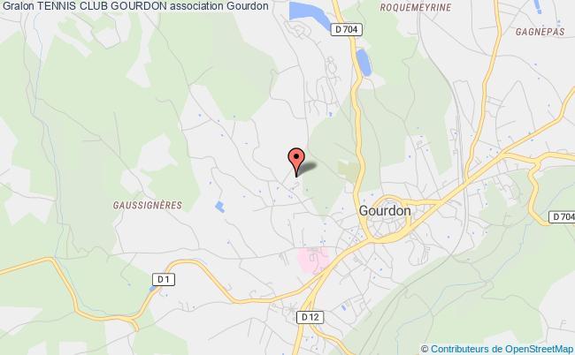 plan association Tennis Club Gourdon Gourdon