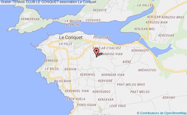 plan association Tennis Club Le Conquet