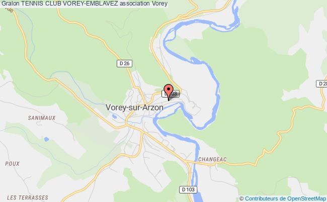 plan association Tennis Club Vorey-emblavez Vorey