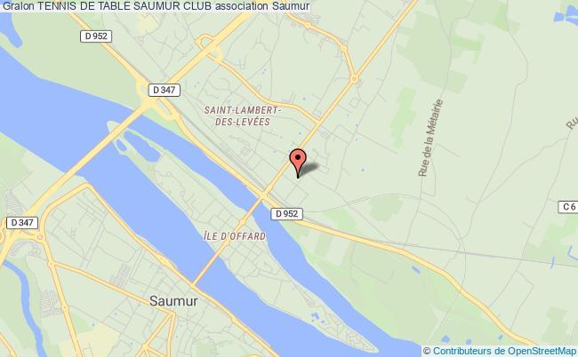 plan association Tennis De Table Saumur Club