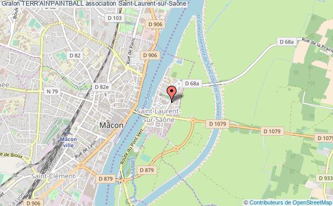 plan association Terr'ain'paintball Saint-Laurent-sur-Saône