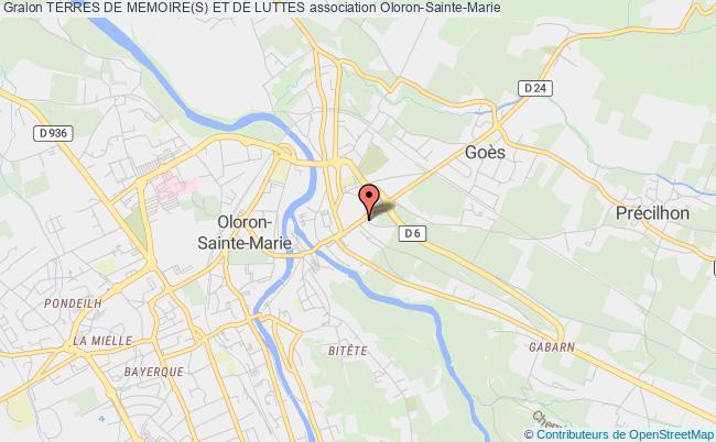 plan association Terres De Memoire(s) Et De Luttes Oloron-Sainte-Marie