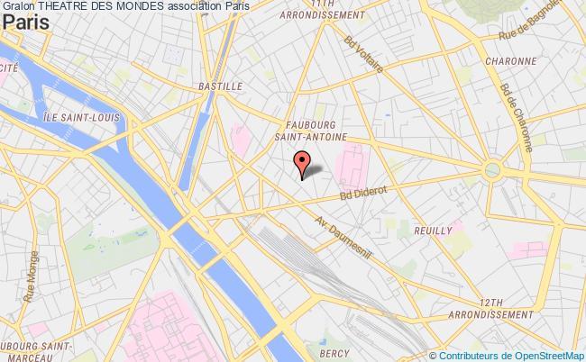 plan association Theatre Des Mondes Paris