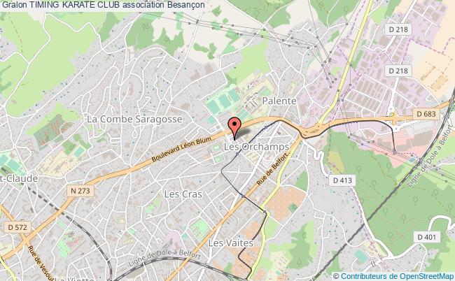 plan association Timing Karate Club Besançon
