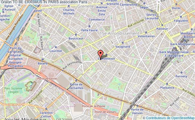 plan association To Be Erasmus In Paris Paris 15e