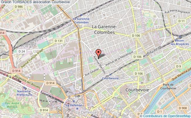 plan association Torsades Courbevoie