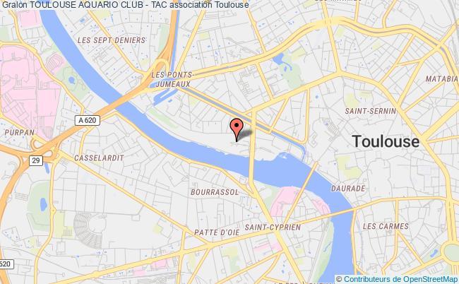 plan association Toulouse Aquario Club - Tac