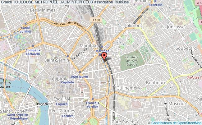 plan association Toulouse Metropole Badminton Club