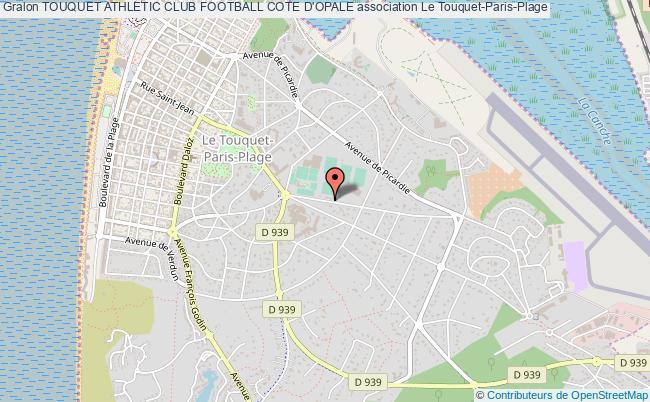 plan association Touquet Athletic Club Football Cote D'opale Le    Touquet-Paris-Plage