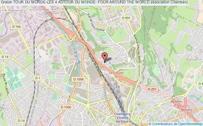 plan association Tour Du Monde-les 4 Autour Du Monde- Four Around The World