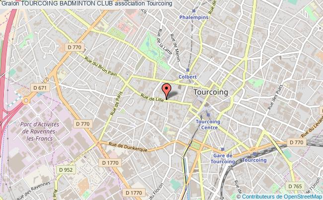 plan association Tourcoing Badminton Club