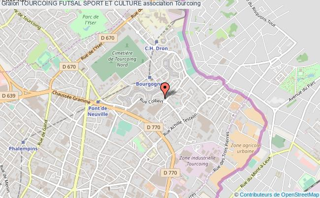 plan association Tourcoing Futsal Sport Et Culture Tourcoing