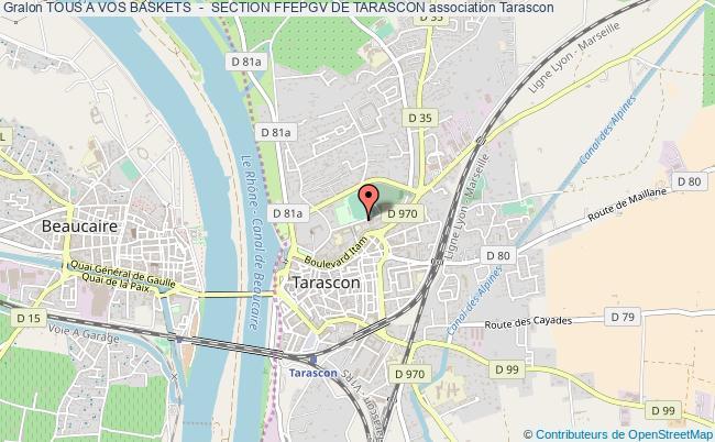 plan association Tous A Vos Baskets  -  Section Ffepgv De Tarascon