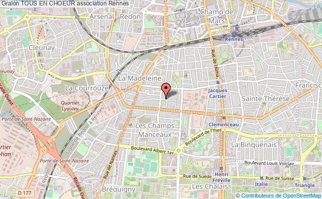 plan association Tous En Choeur Rennes