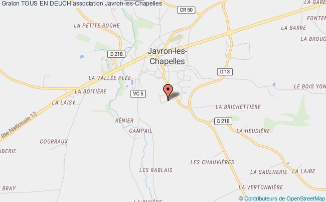plan association Tous En Deuch Javron-les-Chapelles
