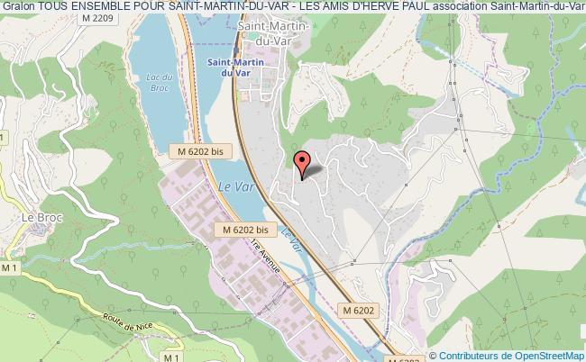plan association Tous Ensemble Pour Saint-martin-du-var - Les Amis D'herve Paul
