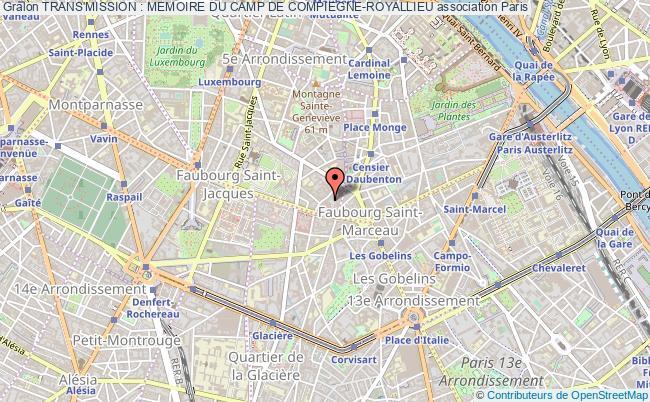 plan association Trans'mission : Memoire Du Camp De Compiegne-royallieu