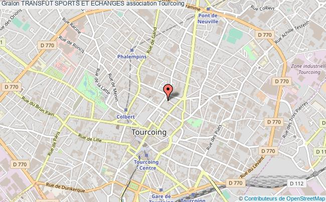 plan association Transfut Sports Et Echanges Tourcoing